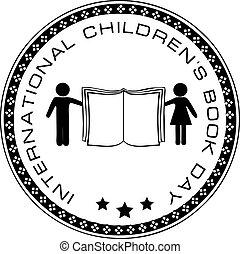 livre, childrens, jour