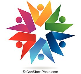 livre, collaboration, logo