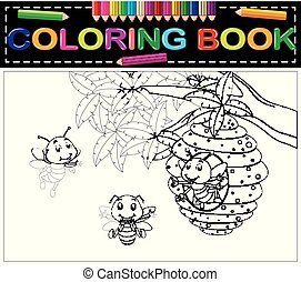 livre coloration, abeille