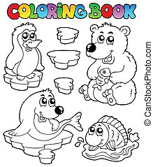 livre coloration, hiver, topic, 1