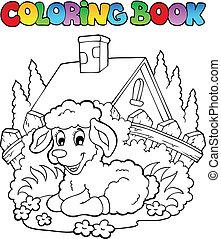 livre coloration, printemps, thème, 1