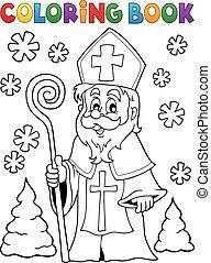 livre coloration, saint, nicolas, thème