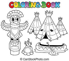 livre coloration, totem