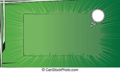 livre comique, vert, bg