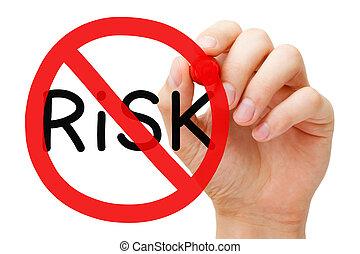 livre, conceito, risco, proibição, sinal