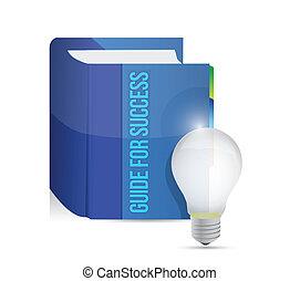 livre, conception, illustration, reussite, guide