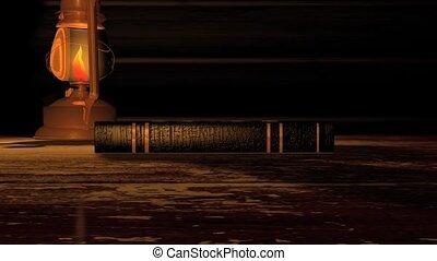 livre contes, écran, vieux, vert, hd