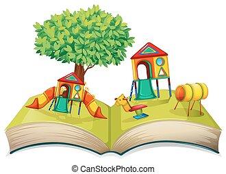 livre contes, cour de récréation