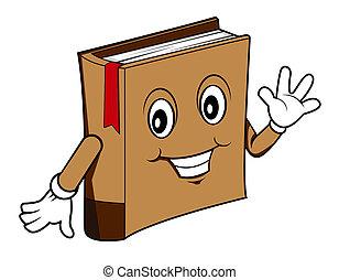 livre, dessin animé