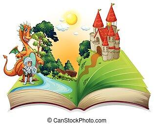 livre, dragon