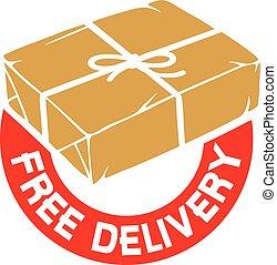 livre, entrega, sinal, ou, etiqueta