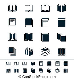 livre, icônes