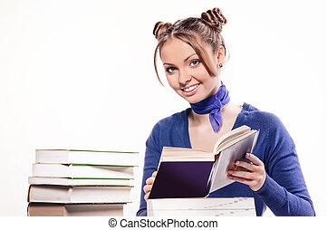 livre lecture, bureau