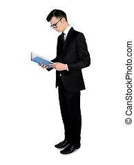 livre lecture, homme affaires