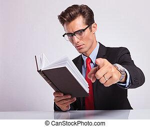 livre lecture, &, pointage