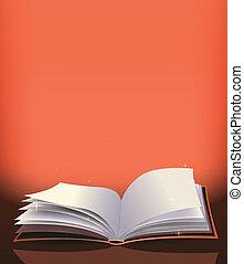 livre, magie, fond