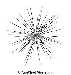 livre, manga, flash, comique, radial, lignes, explosion, arrière-plan.