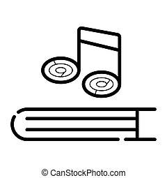 livre musique, icône