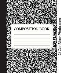 livre, noir, composition