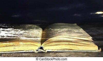 livre, novel., e-book., water.