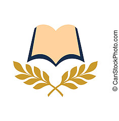 livre, ouvert, icône