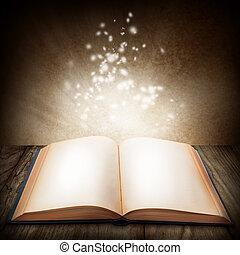 livre ouvert, magie
