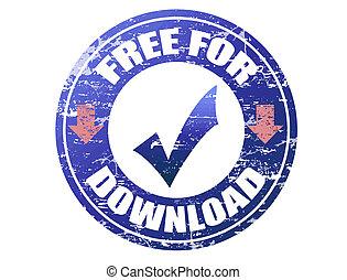 livre, para, download, selo