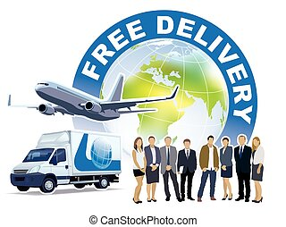 livre, serviço entrega