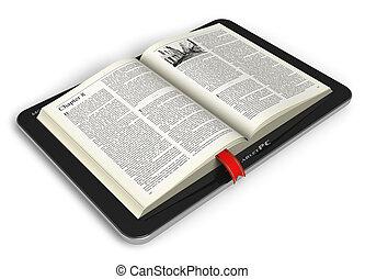 livre, tablette, informatique