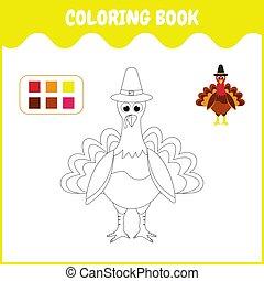 livre, turquie, coloration, gosses