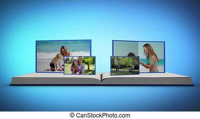 livre, vidéos, famille