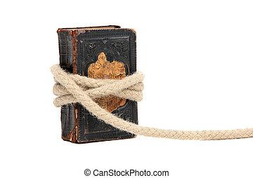 livre, vieux, capturé