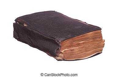 livre, vieux, prière