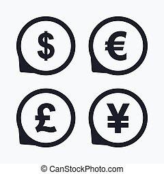 Finance Yen Devise Argent Infographics Dollar Symbols