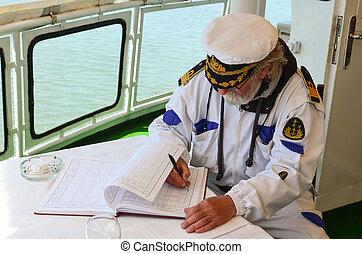 livrede bord, bateau, remplissage