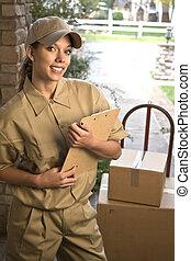 livrer, paquet
