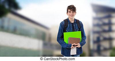 livres école, étudiant