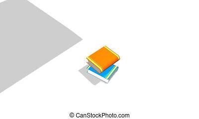 livres, être, arrangé
