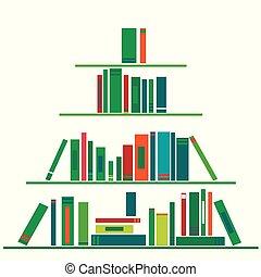 livres, arbre, noël, fait