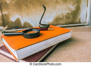 livres, bois