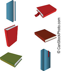 livres, collection, icônes