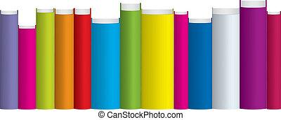 livres, coloré