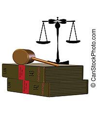 livres, droit & loi, blanc