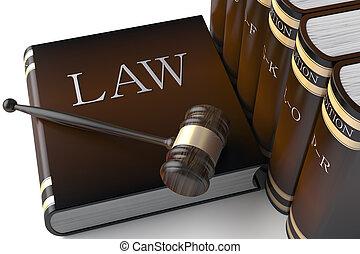livres, droit & loi, rang, cuir