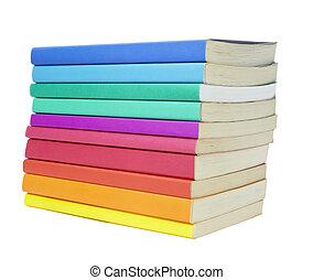 livres, education, pile, coloré