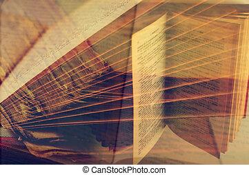 livres, exposition multiple