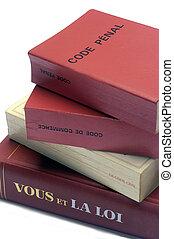 livres, légal, francais