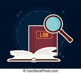 livres loi, icône