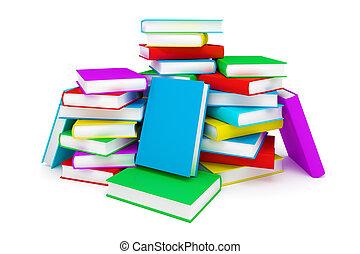 livres, pile