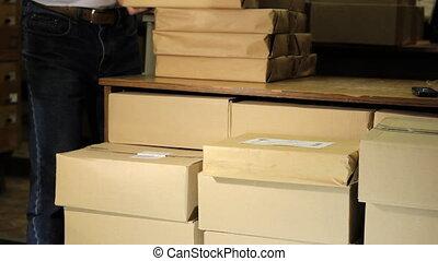 livres, pile, bibliothèque, paquet